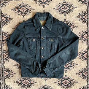 ag adriano goldschmied black denim jacket